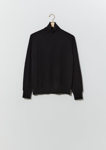Morisot Cashmere Turtleneck — Black