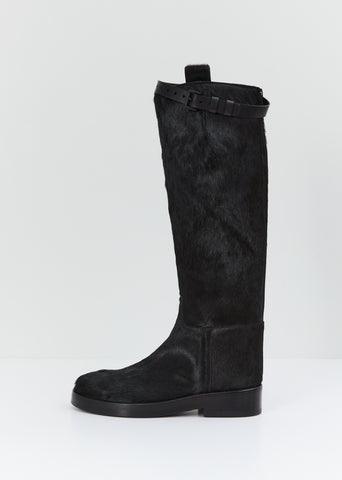 Tall Pony Hair Boots