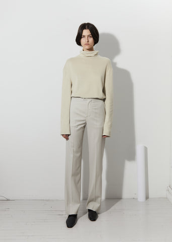 Light Wool Straight Pants