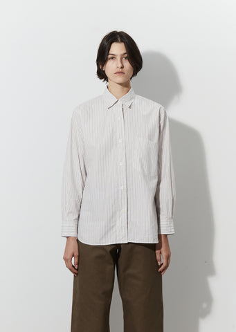 Basic Shirt — Ecru / Brown