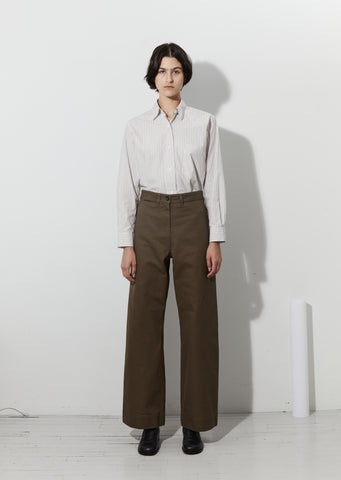Naval Wide Leg Trouser