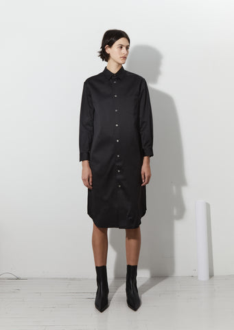 Satin Finish Shirt Dress