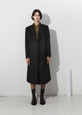 Wool Serge Double Breasted Coat