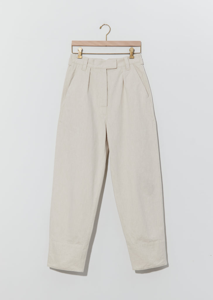 Natural Denim Wide Hem Trouser