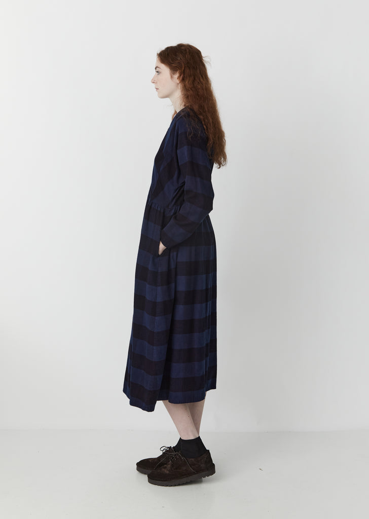 Flannel Check Hand-Dyed Dress