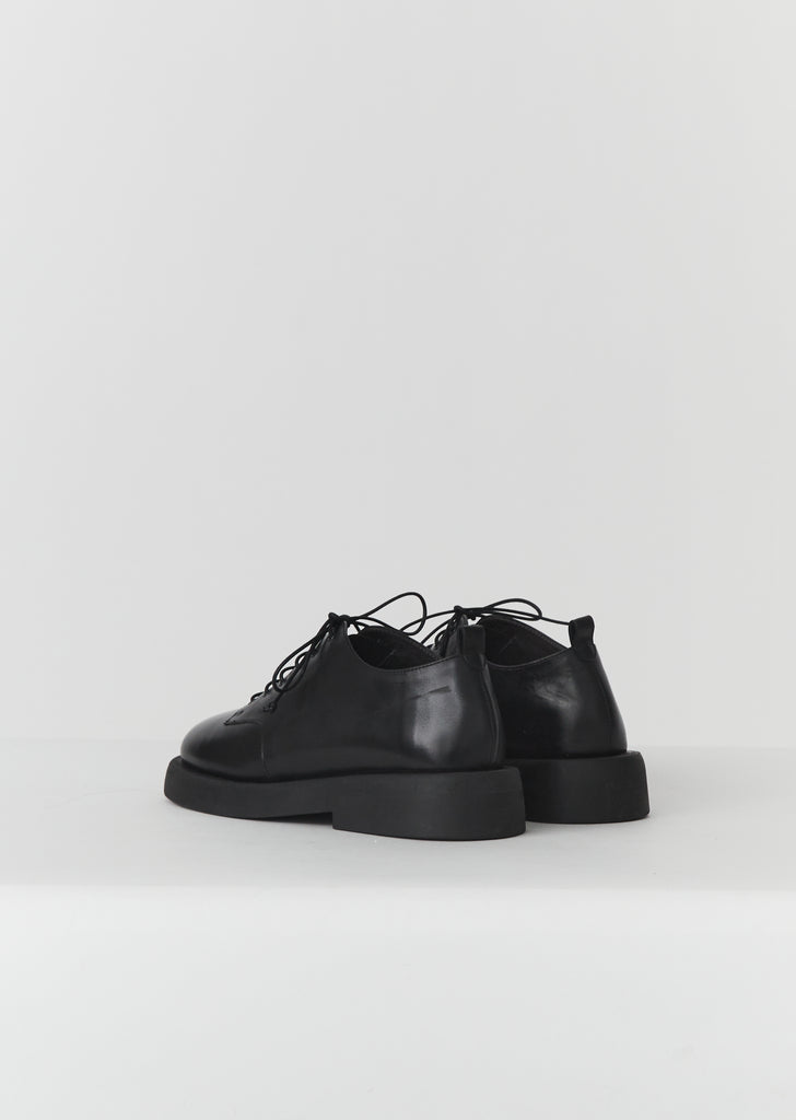 Gommello Lace Up Derbies — Black