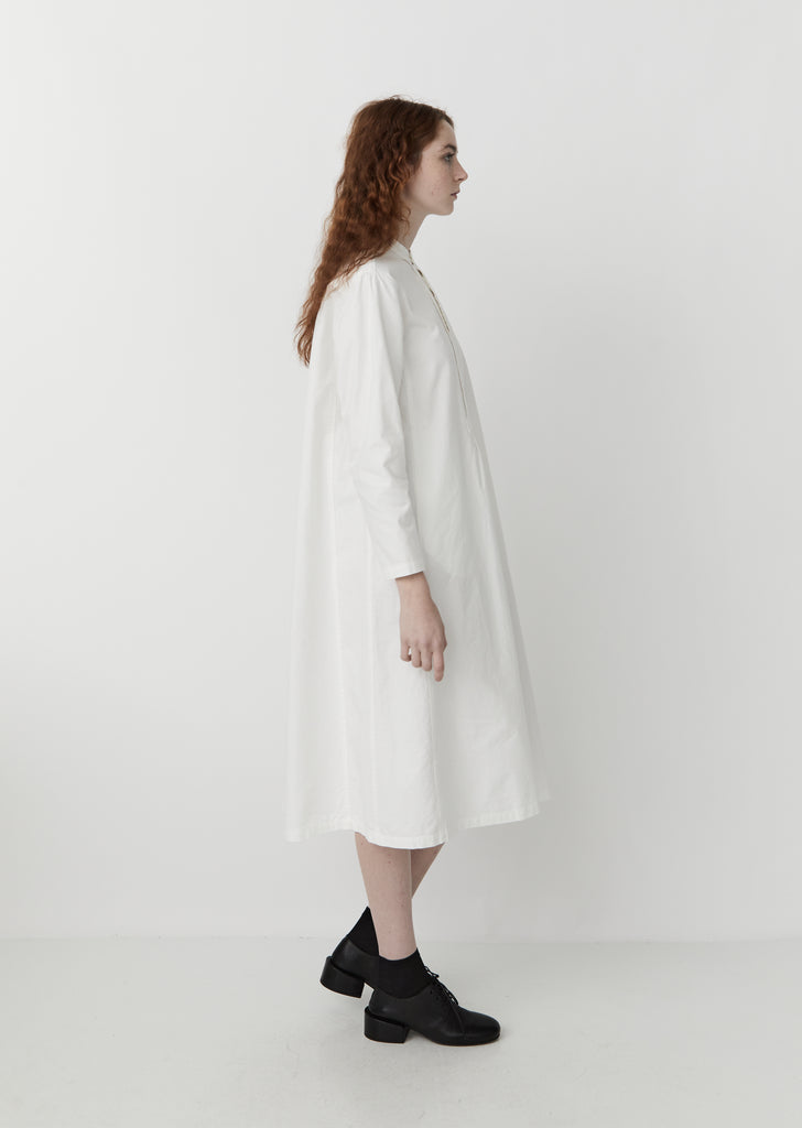 Vintage Twill Dress — White