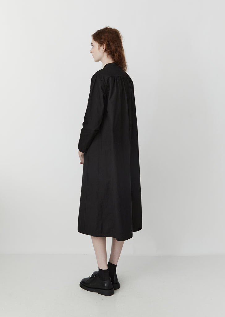 Vintage Twill Dress — Black