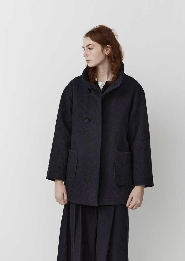 Kumo Gakaru Short Wool Coat