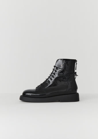 Gommello Patent Leather Boots — Black