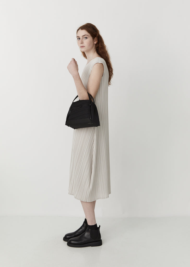 Bias Pleats Shoulder Bag