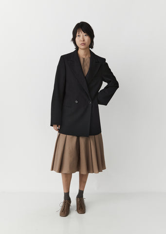 Wool Peak Lapel Jacket