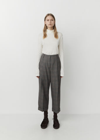 Deep Pleat Wool Trouser