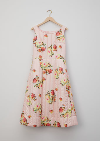Flower Pattern Quilted Dress