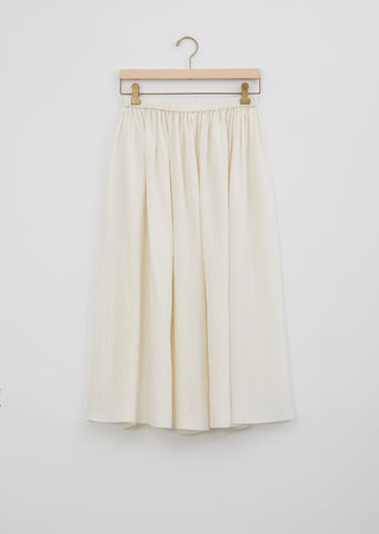 Silk Gathered Skirt