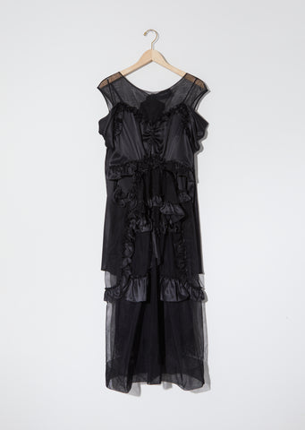 Silk Satin & Tulle Skeleton Dress