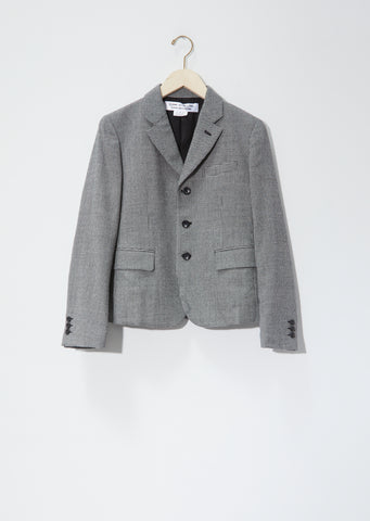 Wool Houndstooth Check Blazer