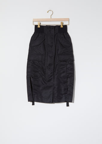 Nylon Twill Skirt