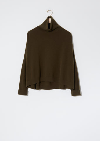 Turtleneck Chunky Sweater — Military