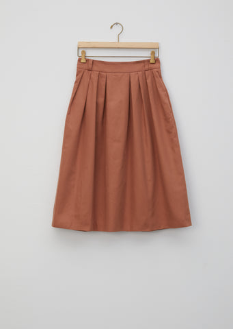 Cotton Linen Pretty Pleated Skirt