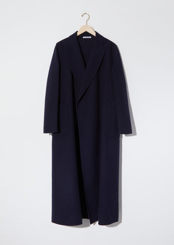 Virgin Wool Long Coat with Pockets