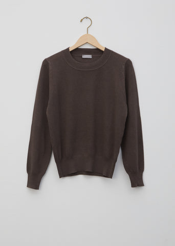 Cotton Cashmere Silk Pique Sweater