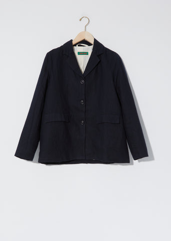 Wool & Linen Carre Felt Jacket