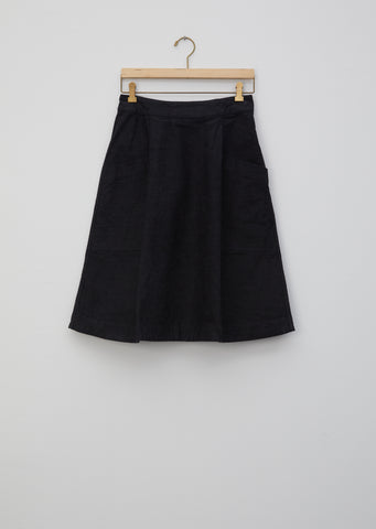Natural Denim Side Zip Skirt