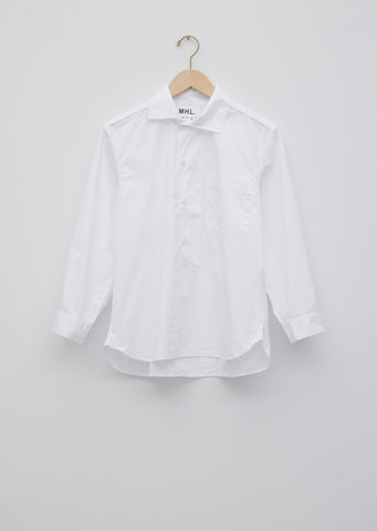 Cotton Asymmetric Collard Shirt