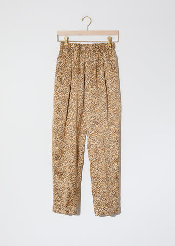 """Eagle Print"" Satin Silk Pants"