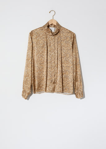 """Eagle Print"" Satin Silk Shirt"