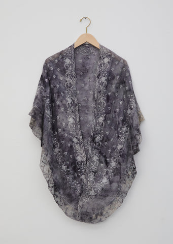 Stanton Floral Dye Embroidered Lace Shawl