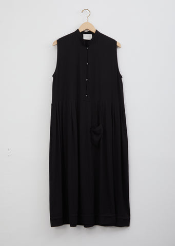 Mandarin Dress — Black