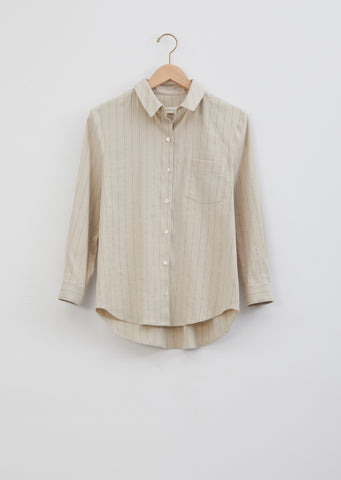 Petite Shirt — Natural Stripe