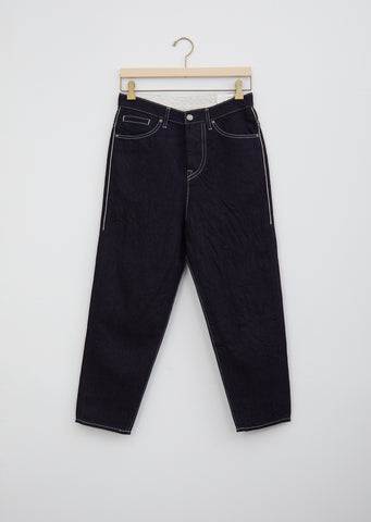 Always Tapered Cotton and Linen Denim