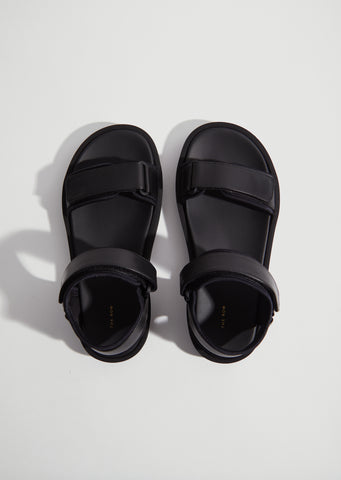 Hook-And-Loop Sandal — Black