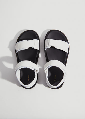 Hook-And-Loop Sandal — Eggshell
