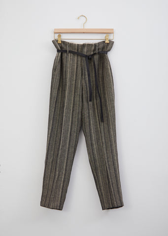 Cotton & Linen Herringbone Trouser