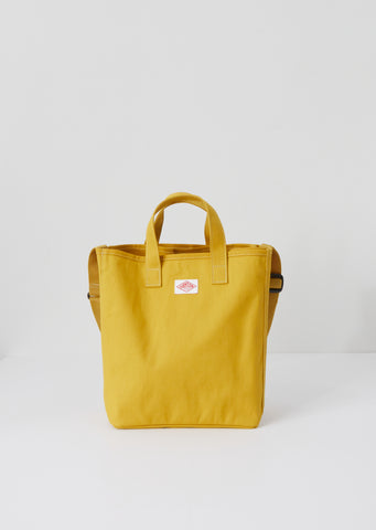 Cotton Canvas Utility Tote — Mustard