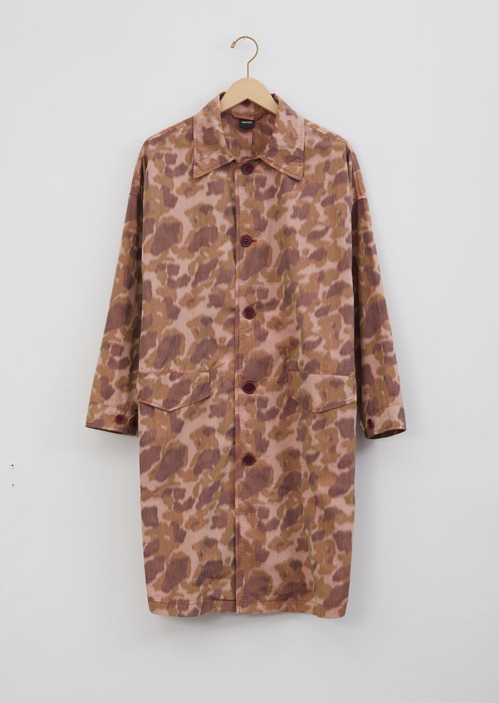Cotton Blend Printed Trench