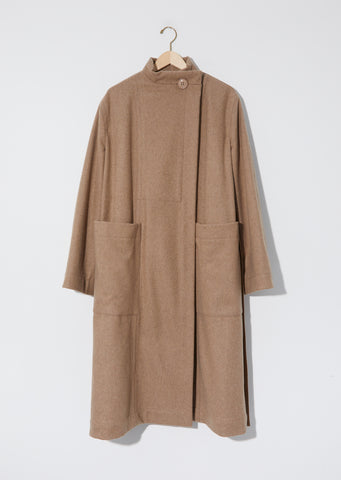 Wrapover Coat — Beige