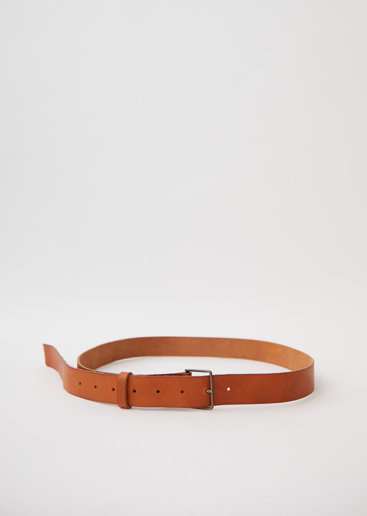 Leather High Belt with Buckle — Miele