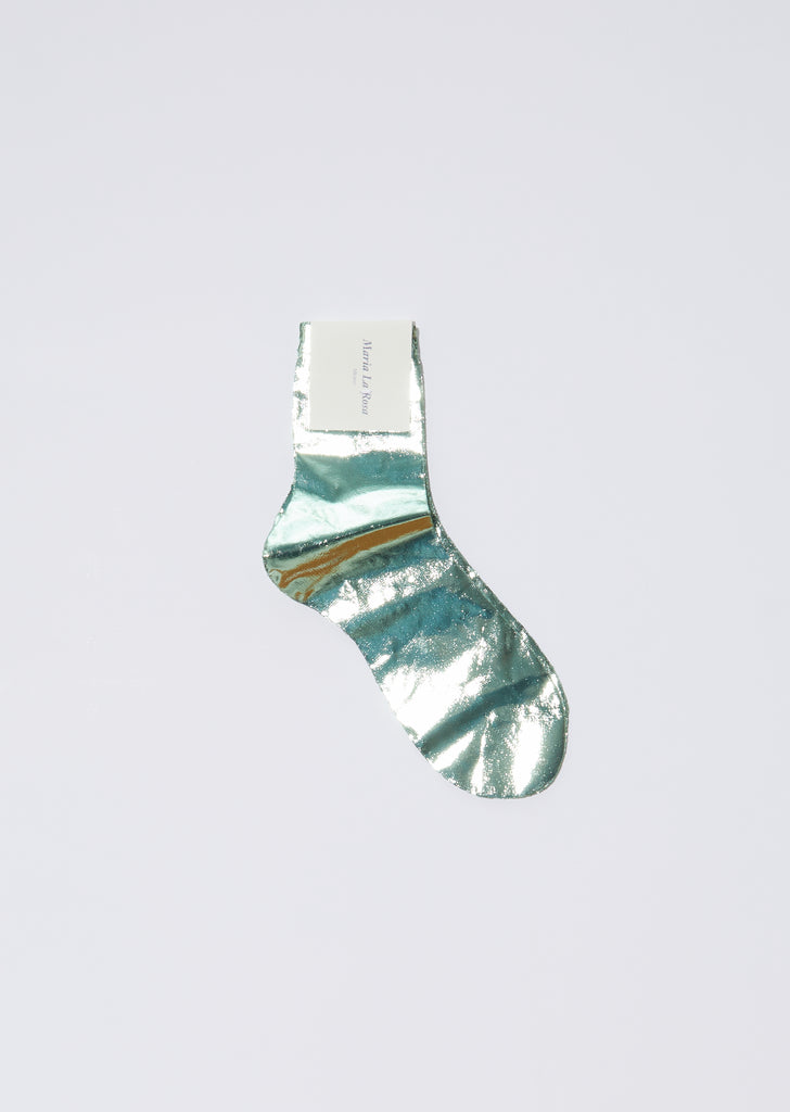 Laminated One Short Socks — Verdino
