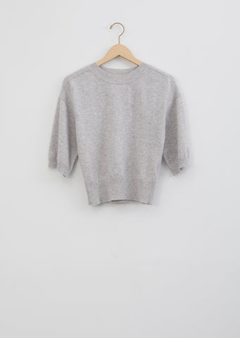 Hao Cashmere Sweater — Light Grey Melange