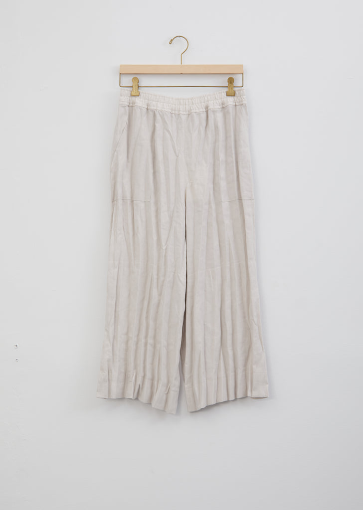 Parisa Creased Linen Culotte Trousers