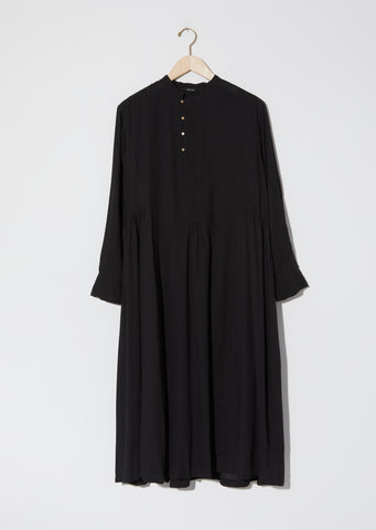 Chinese Collar Ruched Dress