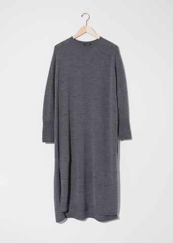 Knit Pullover Dress — Grey