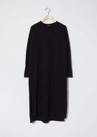 Knit Pullover Dress — Black