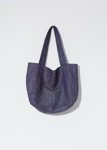 Jute Tote — Denim Navy