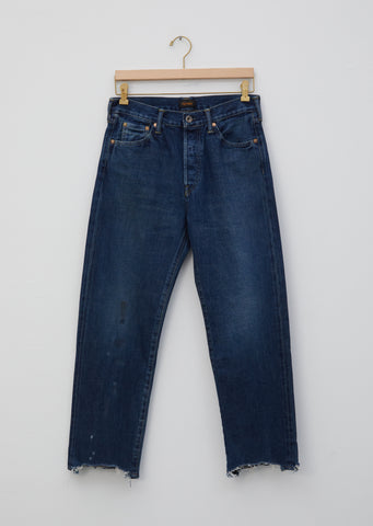 Selvedge Denim Used Ankle Cut Jeans